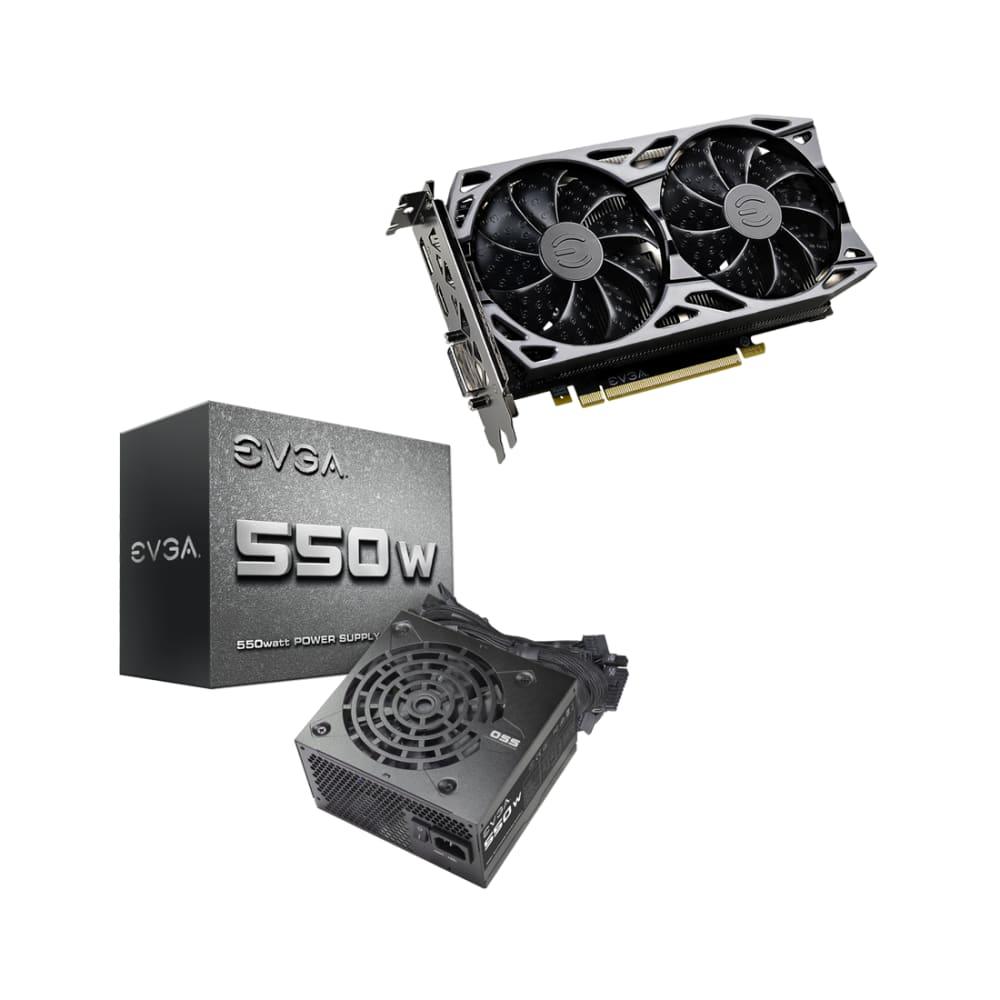 EVGA GeForce GTX 1660 Video Card and EVGA 550W Power Supply BUNDLE