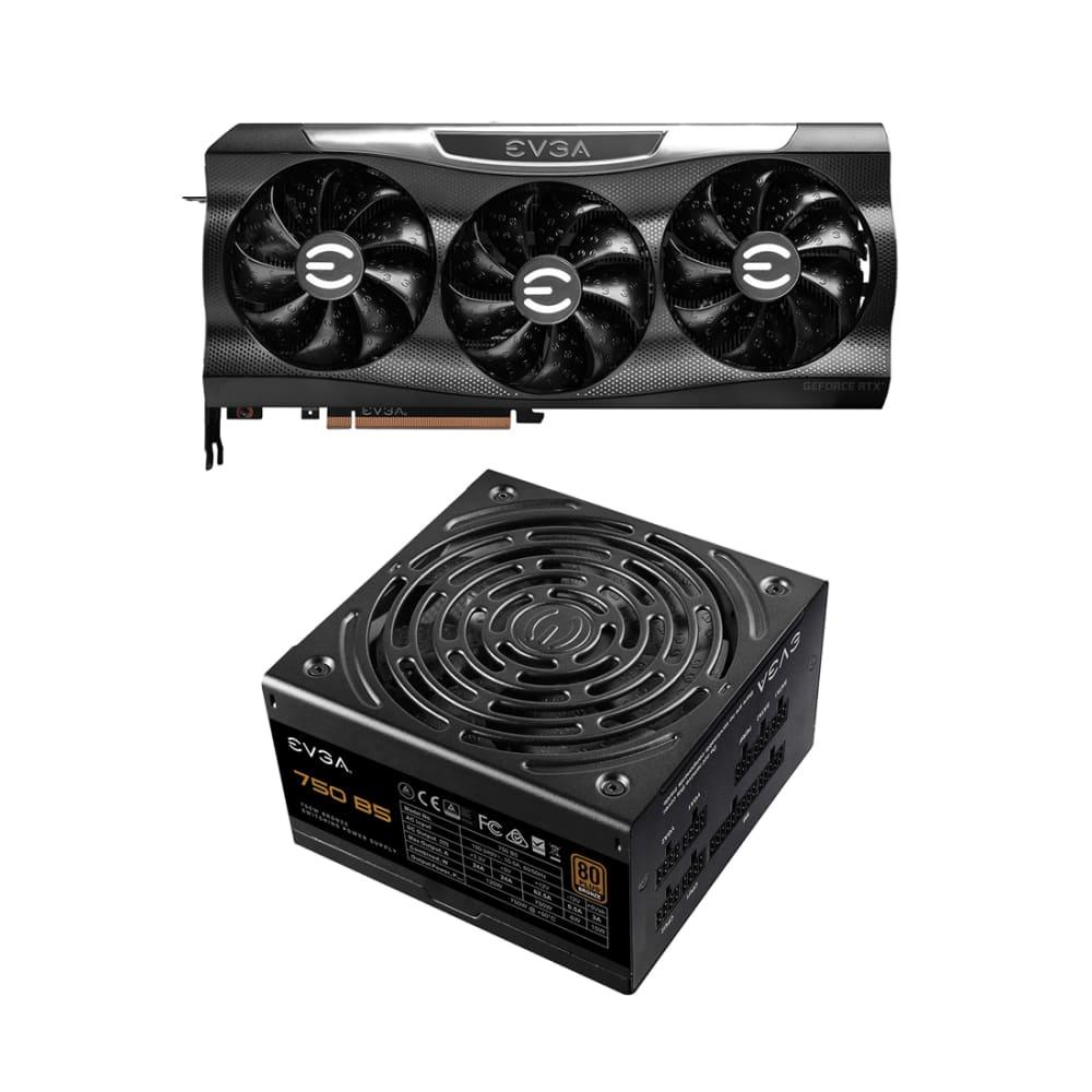 EVGA GeForce RTX 3080 Ti FTW3 ULTRA Video Card and EVGA 750 BQ Power Supply