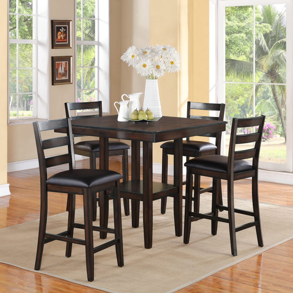Tyler Collection 5pc Counter Height Dining Set
