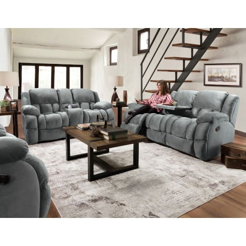 Cloud Charcoal Rocker Motion Collection - Sofa & Loveseat