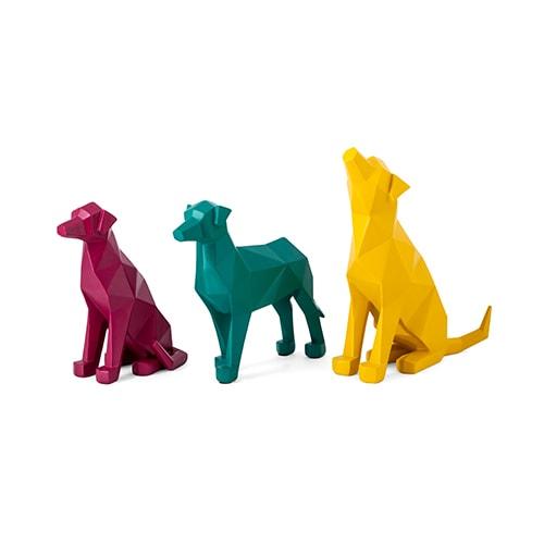 Origami Dog Statuaries - Set of 3 (61250)