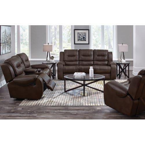 Titan Living Room Chocolate Reclining Sofa & Loveseat - TITAN2PCCHOCLR