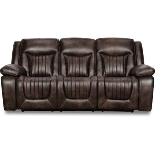 """Optima P2 Motion Collection - Power Headrest Reclining Sofa """"I Table"""""""