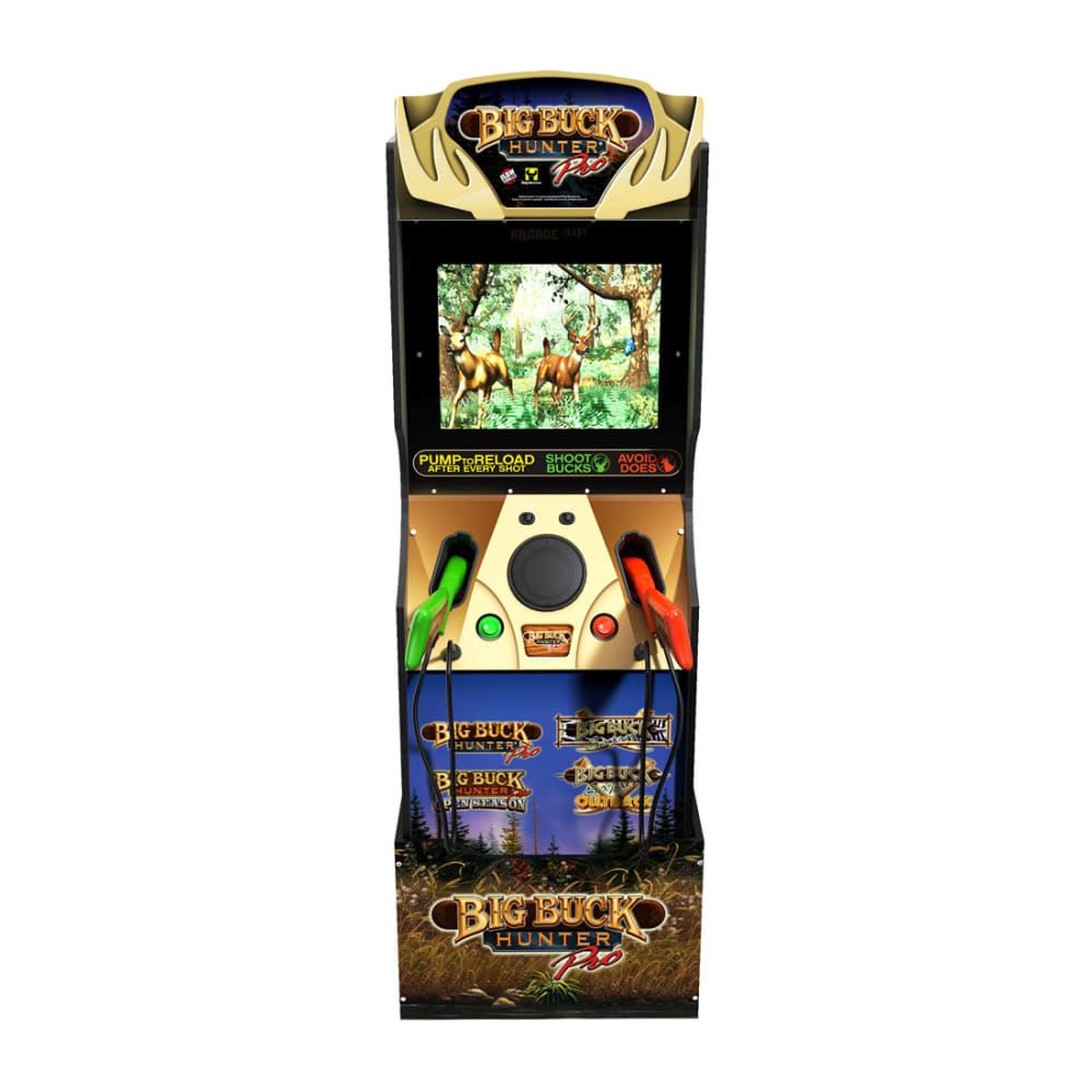 Arcade1Up - Big Buck Hunter Pro Arcade with Riser and Wall Sign - 815221021310