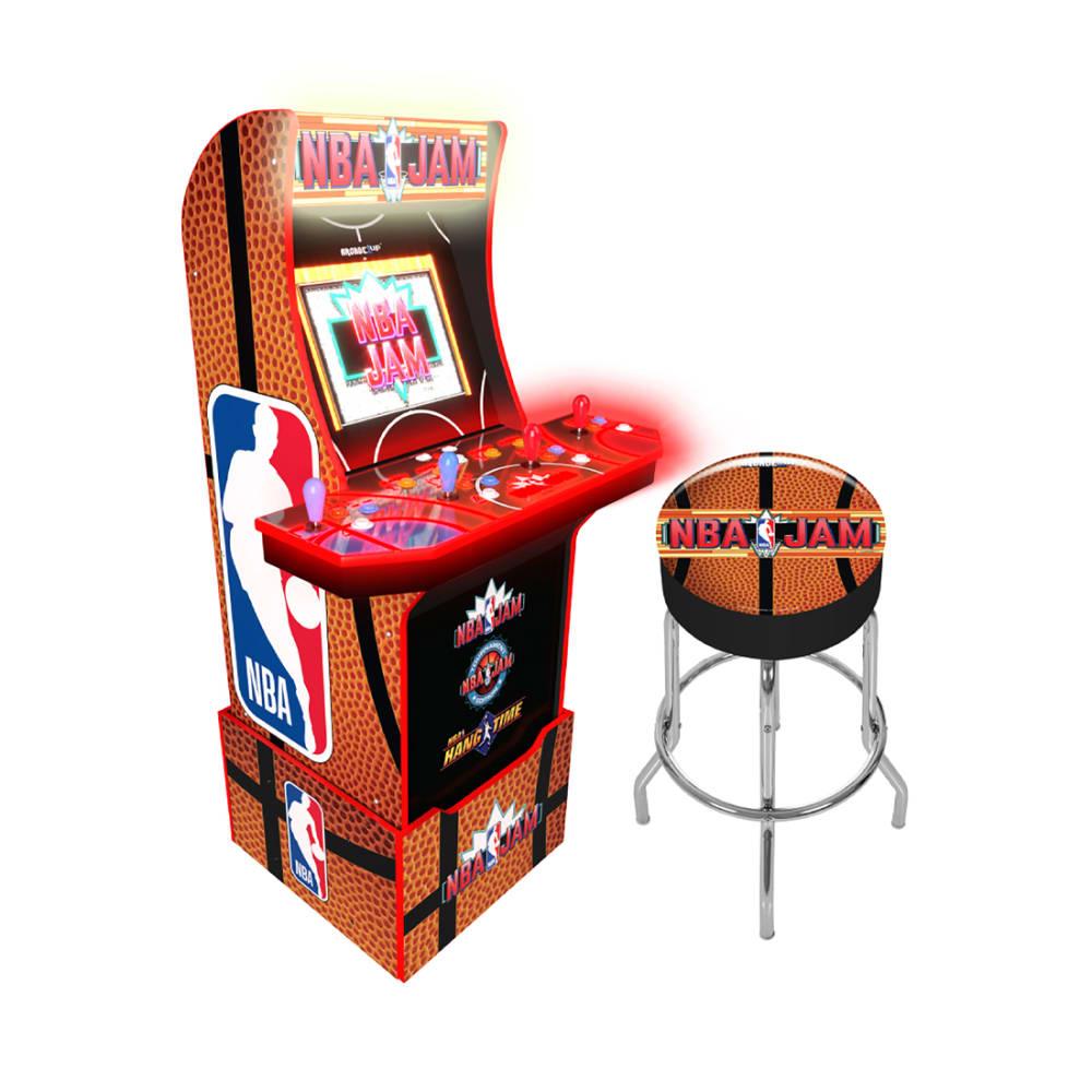 Arcade1Up NBA Jam w/Stool - 815221021433