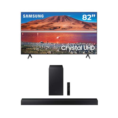 "Samsung 82"" Class TU7000 Crystal UHD 4K Smart TV Bundle - 82TU7000BUNDLE"