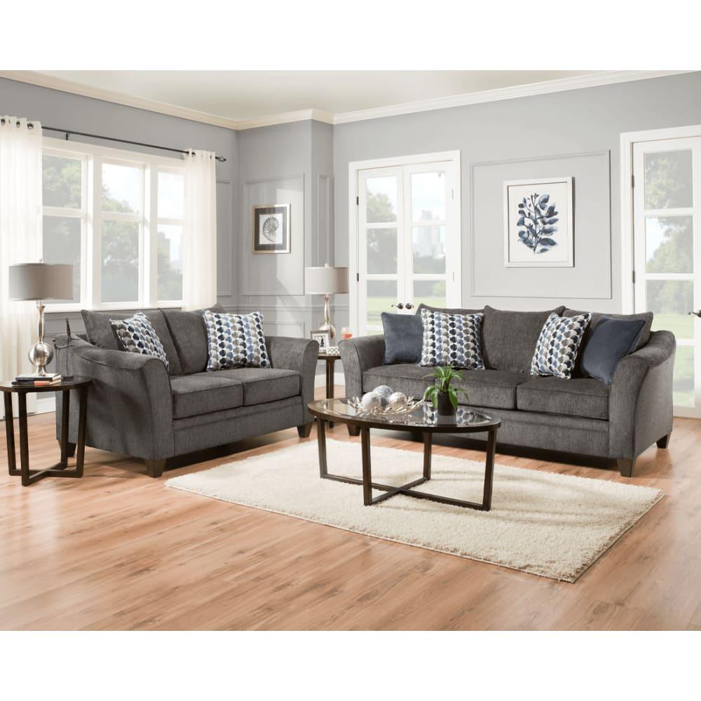 Acadia Slate 2Pc Sofa & Loveseat