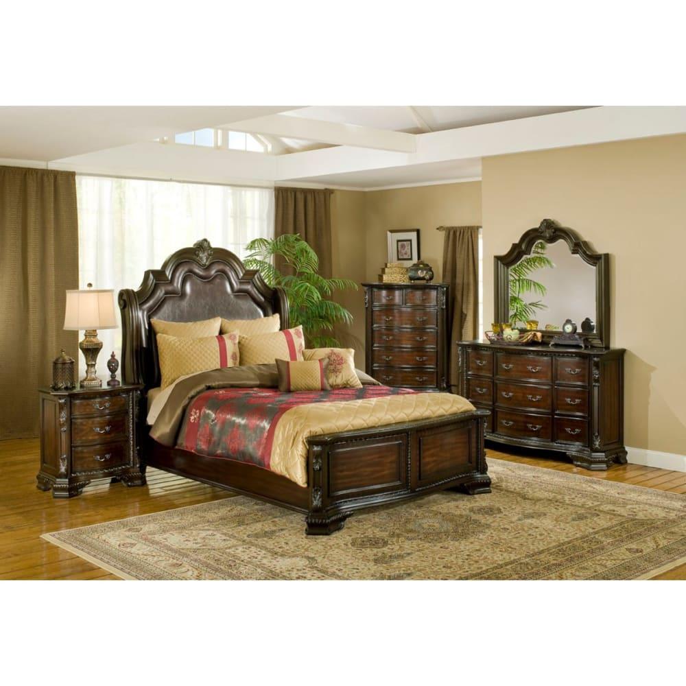 Alexandria Bedroom - Bed, Dresser & Mirror - King - B1100