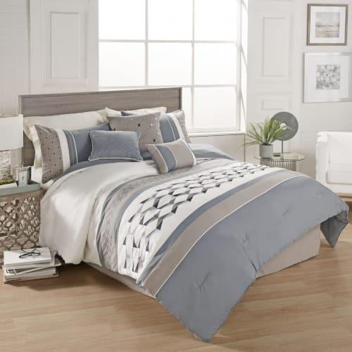 Brock & 7PC Queen Comforter Set (80711)