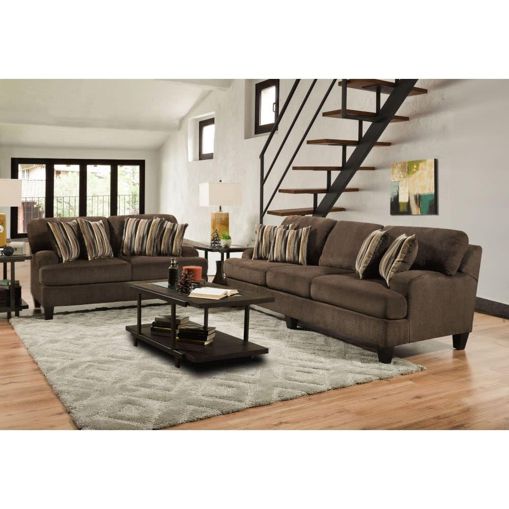 Brooklyn Living Room - Sofa & Loveseat - BROOK2PCLR