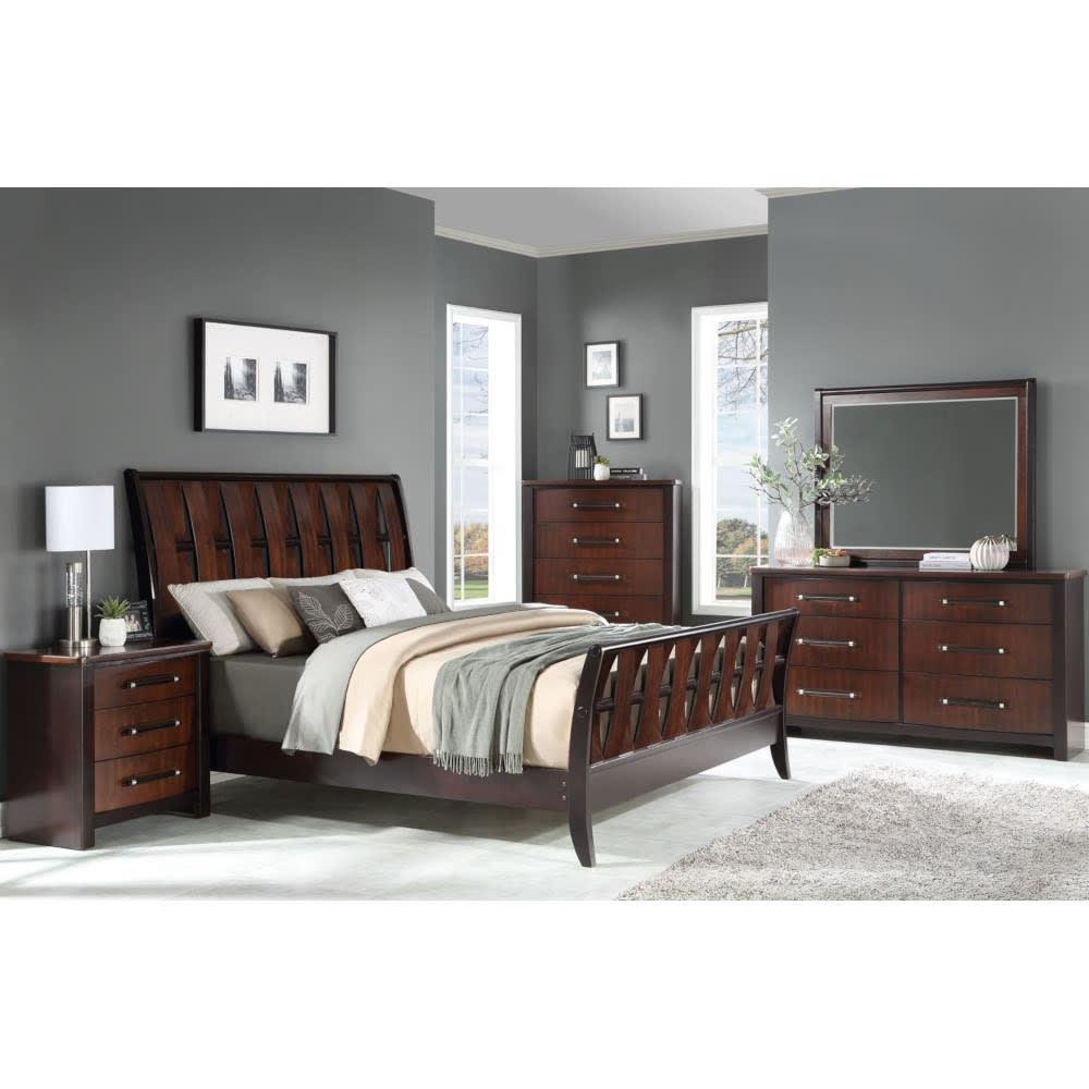 Cascade Bedroom - Bed, Dresser & Mirror - King - CASCADEKGBR