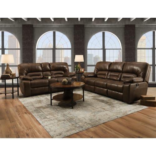 Dakota II Rustic Living Room Collection - Dual Reclining Sofa & Loveseat