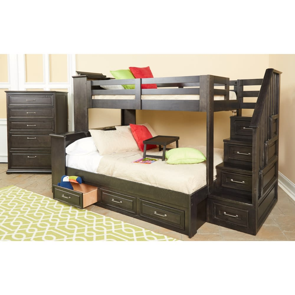 Dreamcatcher Twin Over Twin Bunk Bed - Bunk Bed & Staircase - DREAMCATOTSTBB