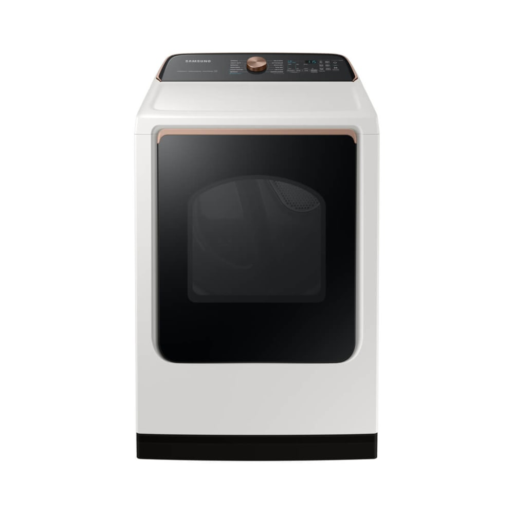 Samsung 7.4 cu. ft. Ivory Smart Electric Dryer with Steam Sanitize+