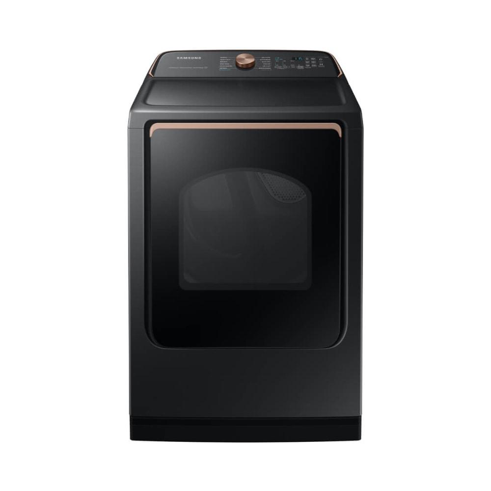Samsung 7.4 cu. ft. Brushed Black Smart Electric Dryer with Steam Sanitize