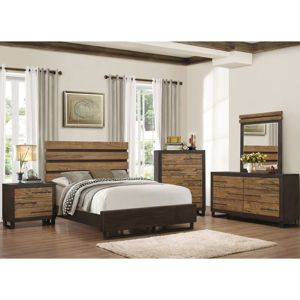 East Elm Bedroom - Bed, Dresser & Mirror - King - 57765