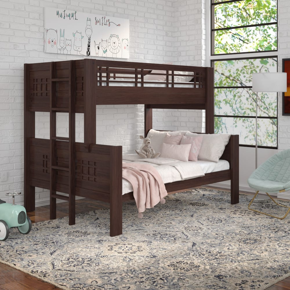 Kona Twin Over Full Bunk Bed with Ladder - KONATFLADR