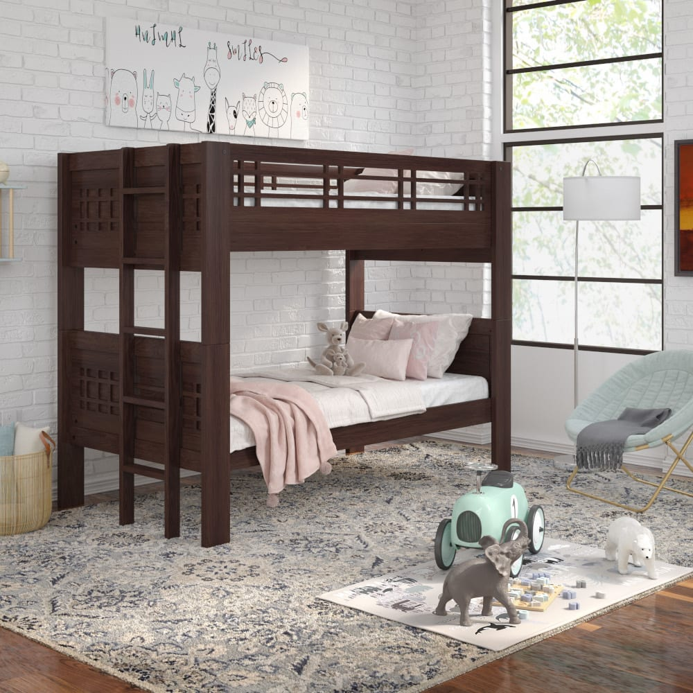 Kona Twin Over Twin Bunk Bed with Ladder - KONATTLADR