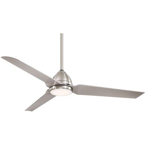 "Minka Aire 54"" Java Ceiling Fan w/LED Light - Brushed Nickel"