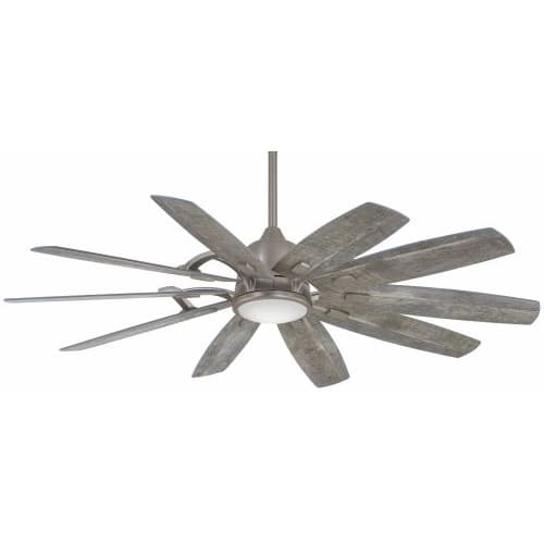 """Minka Aire 65"""" Barn Smart Ceiling Fan with LED Light Burnished Nickel"""