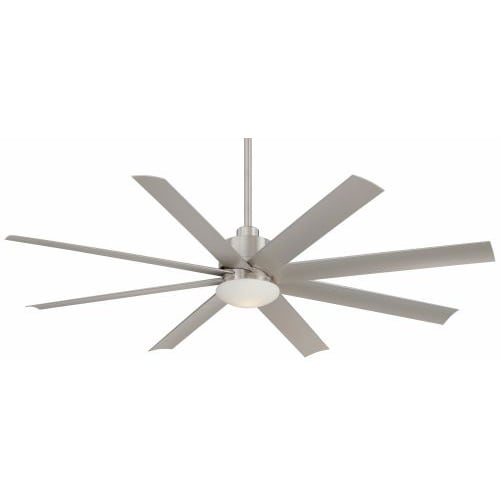 """Minka Aire 65"""" Slipstream Ceiling Fan with LED Light Brushed Nickel Bronze"""