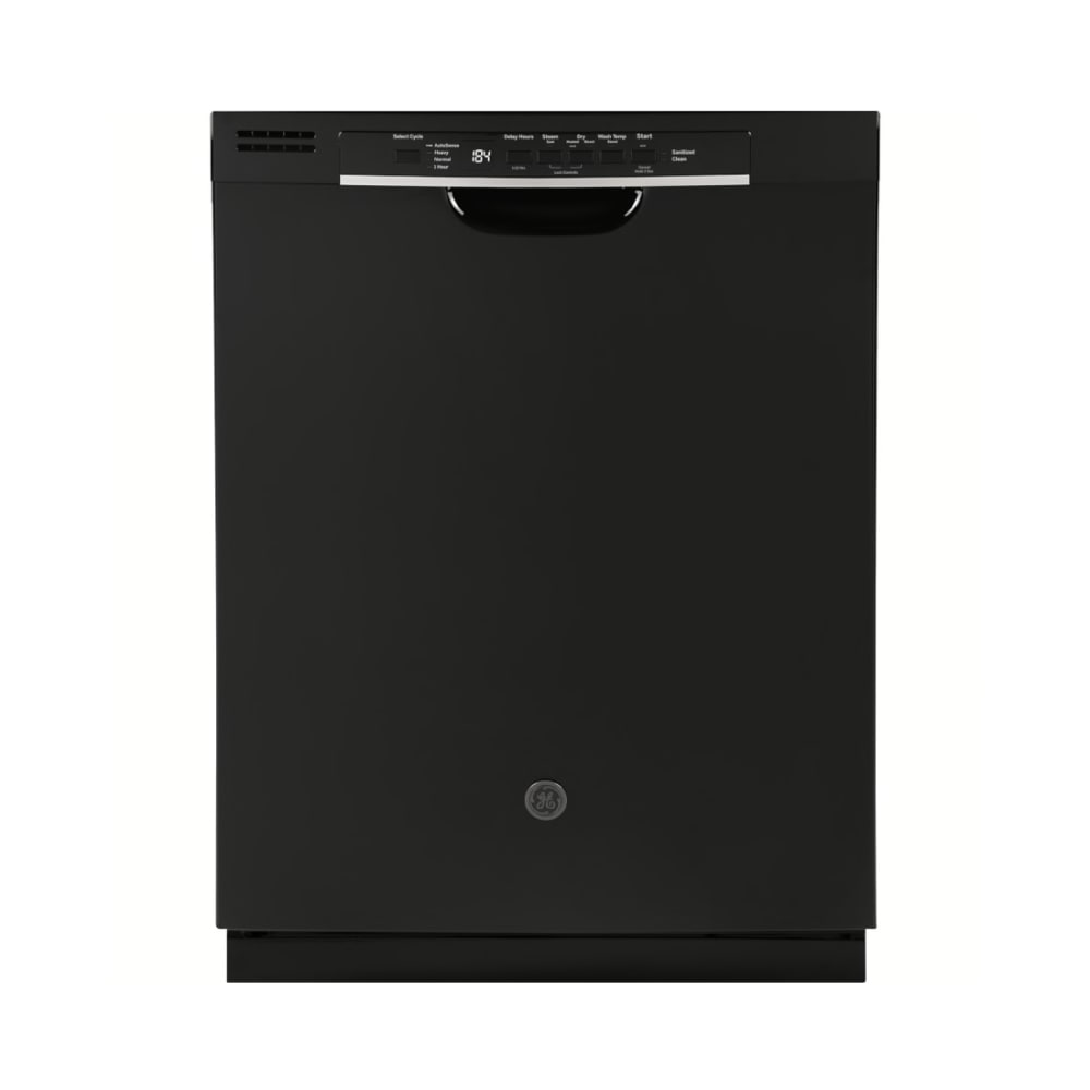 GE® Dishwasher with Front Controls - Black - GDF530PGMBB