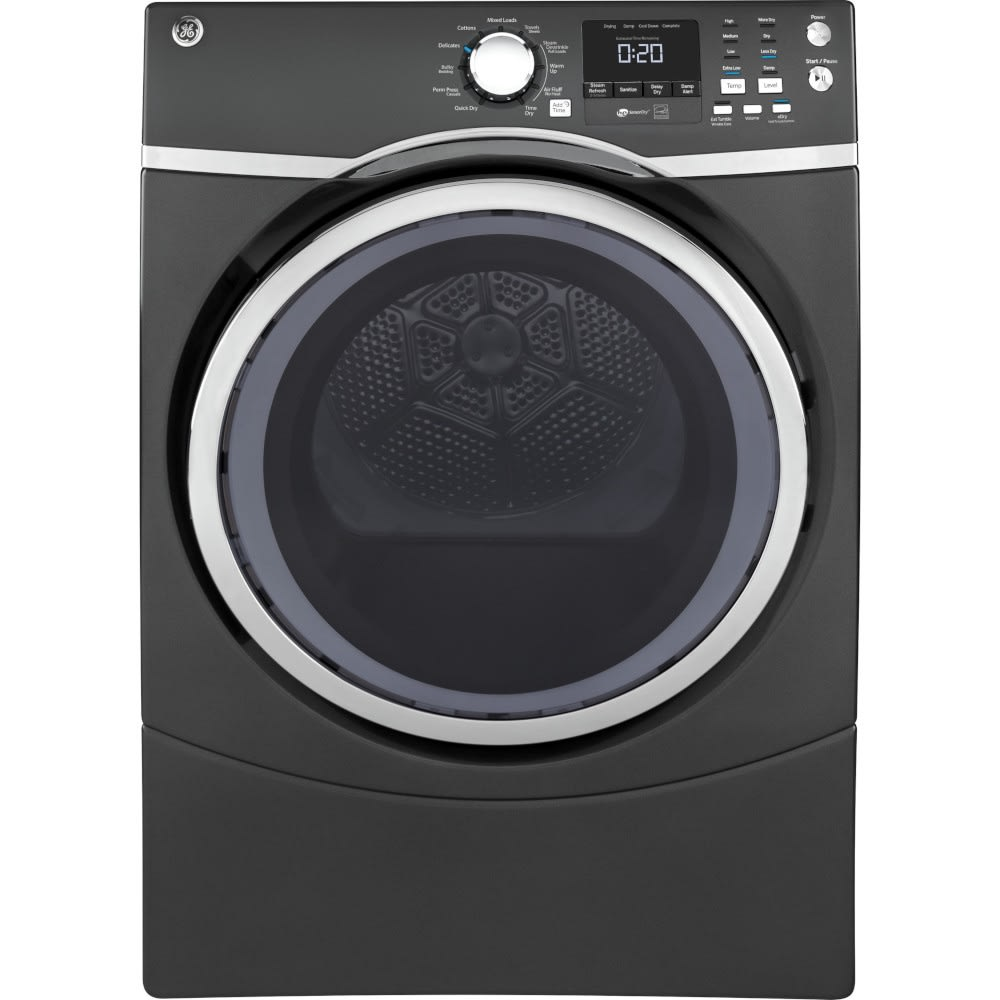 GE® 7.5 Cu. Ft. Capacity Front Load Gas Dryer with Steam (GFD45GSPMDG)
