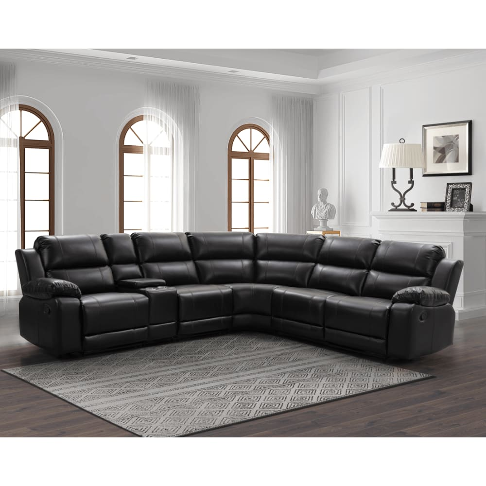 Griffin Collection Walnut Reclining Sectional