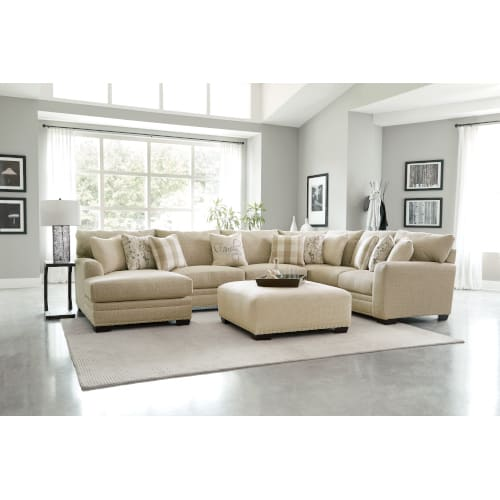 Shabby Chic Sectional Left Facing Chaise