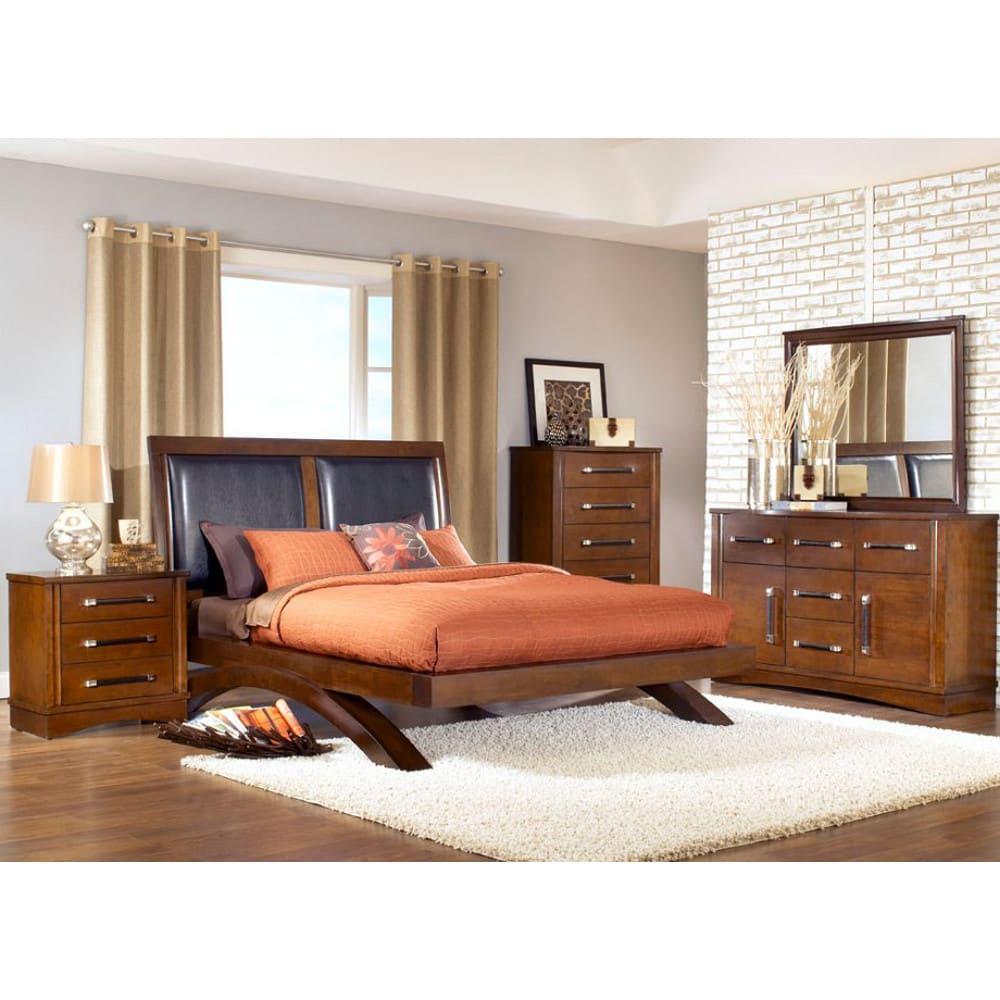 Java Bedroom - Bed, Dresser & Mirror - Queen - JV600