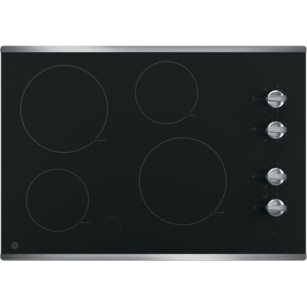 "GE® 30"" Built-In Knob Control Electric Cooktop (JP3030SJSS)"