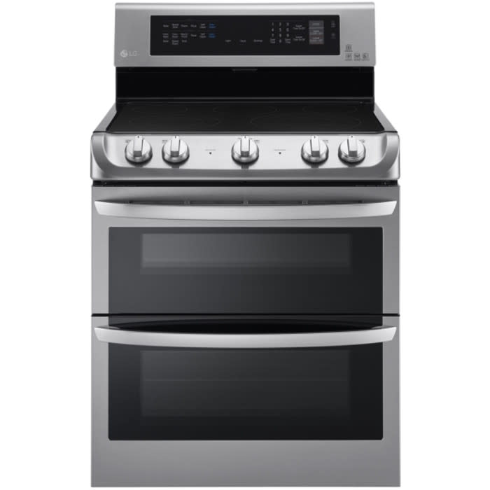 LG 7.3 Cu. Ft. Electric Double Oven Range w/ ProBake™ Convection, EasyClean® Express & Infrared Grill System (LDE4415ST)