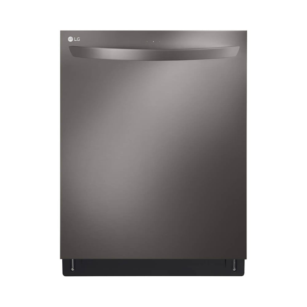LG Top Control Black Stainless Steel Smart Dishwasher with QuadWash