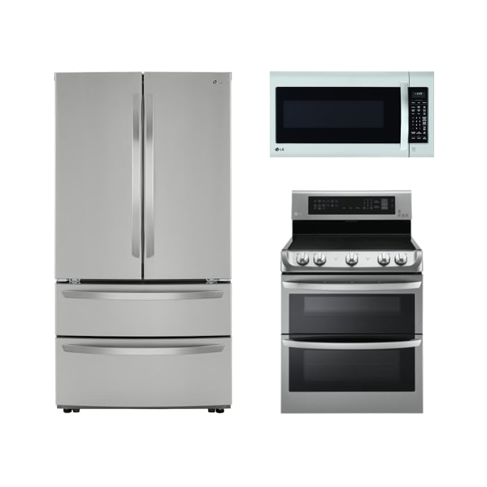 LG Stainless Steel 3 Pc Package