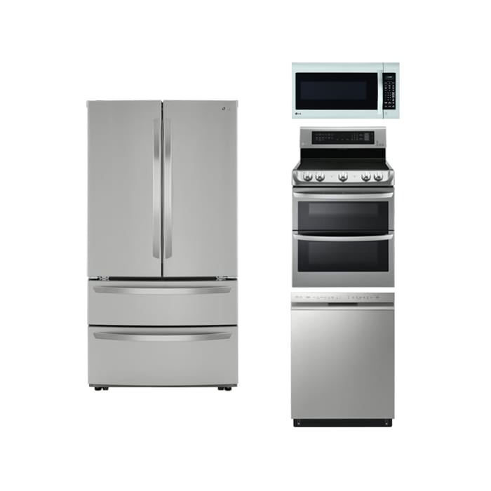 LG Stainless Steel 4 Pc Package
