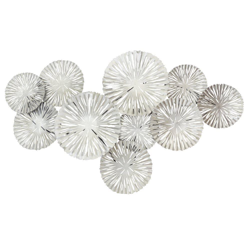 Silver Circles wall art - ready to hang