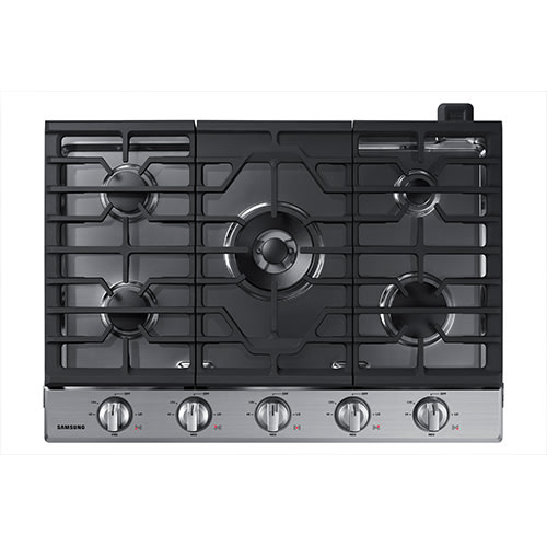 """Samsung 36"""" Gas Cooktop in Stainless Steel - NA36N6555TS"""