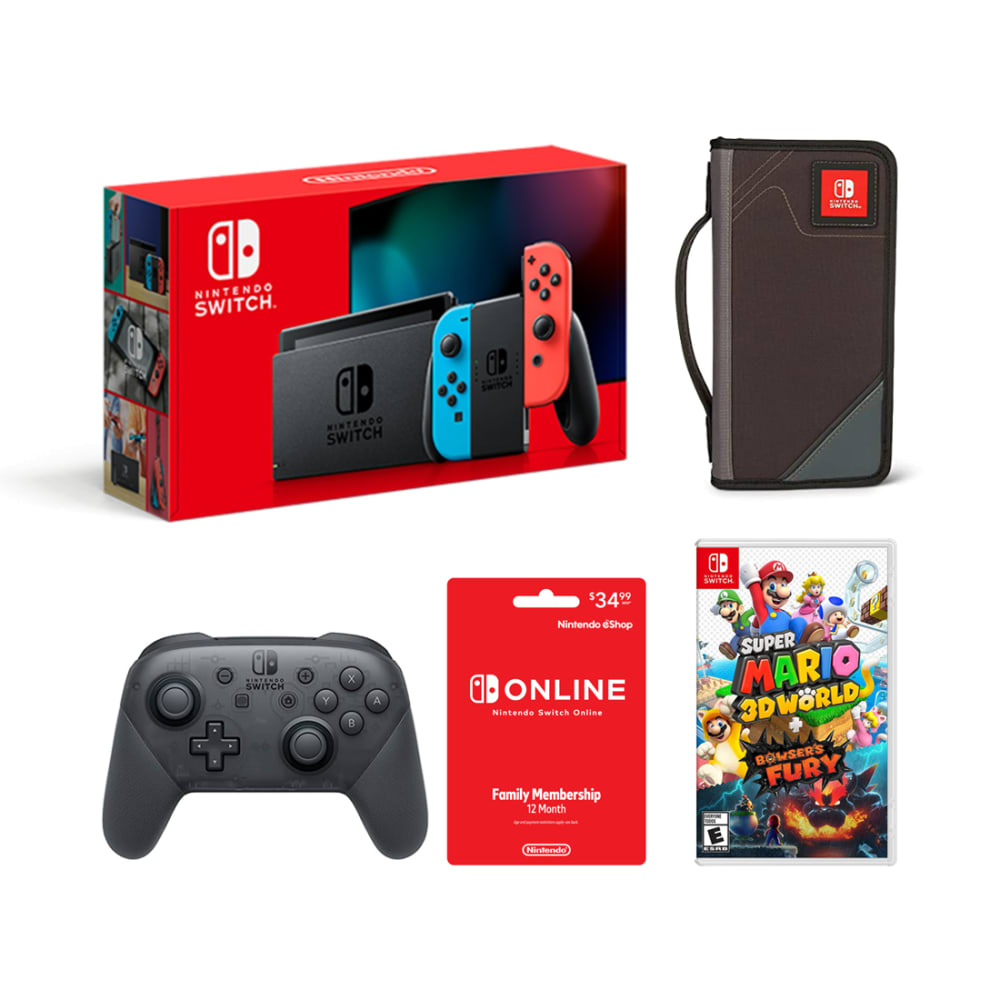 Nintendo Switch Bundle - Super Mario 3D World + Bowser's Fury - NTDSWITCH8
