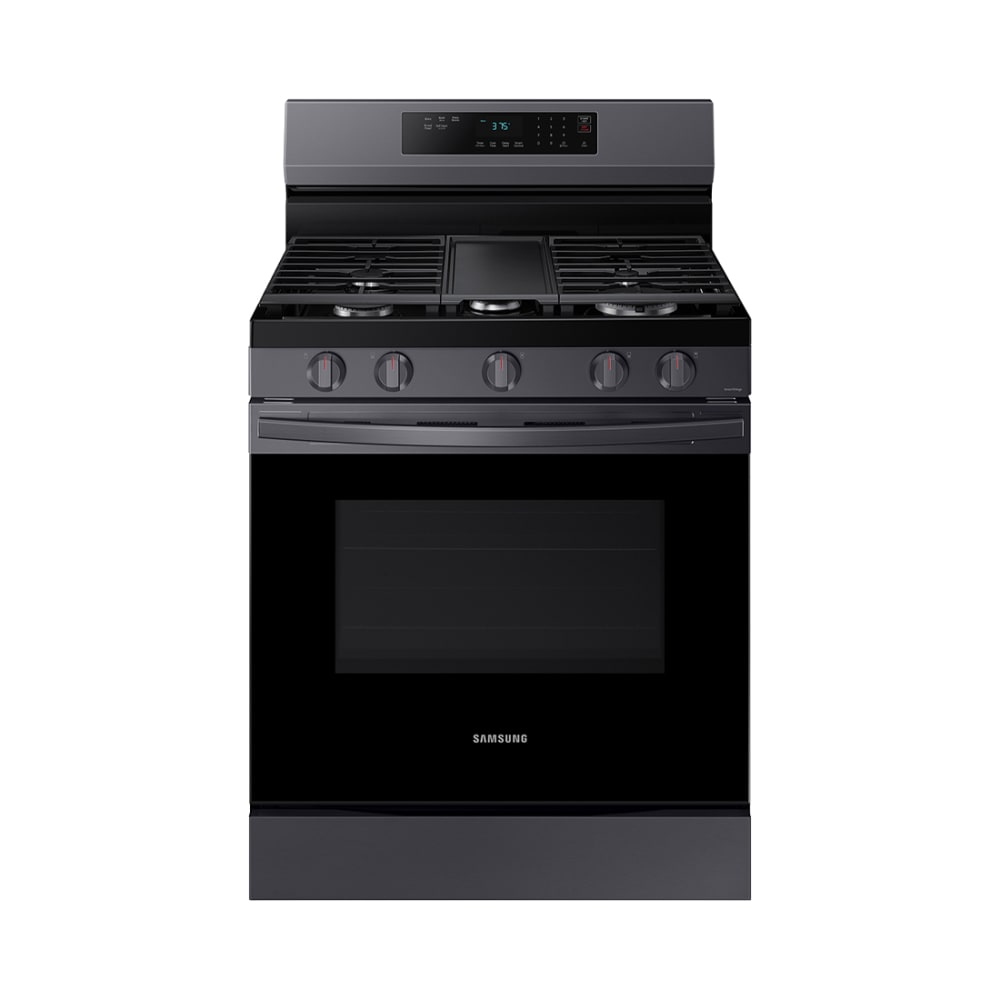 Samsung 6.0 cu. ft. Smart Gas Range w/ Air Fry, Convection+ & Stainless Cooktop - NX60A6711SG