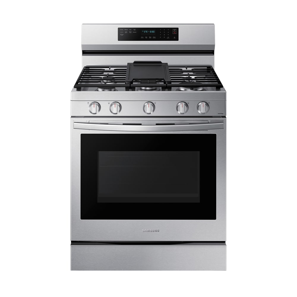 Samsung 6.0 cu. ft. Smart Gas Range w/ Air Fry, Convection+ & Stainless Cooktop - NX60A6711SS