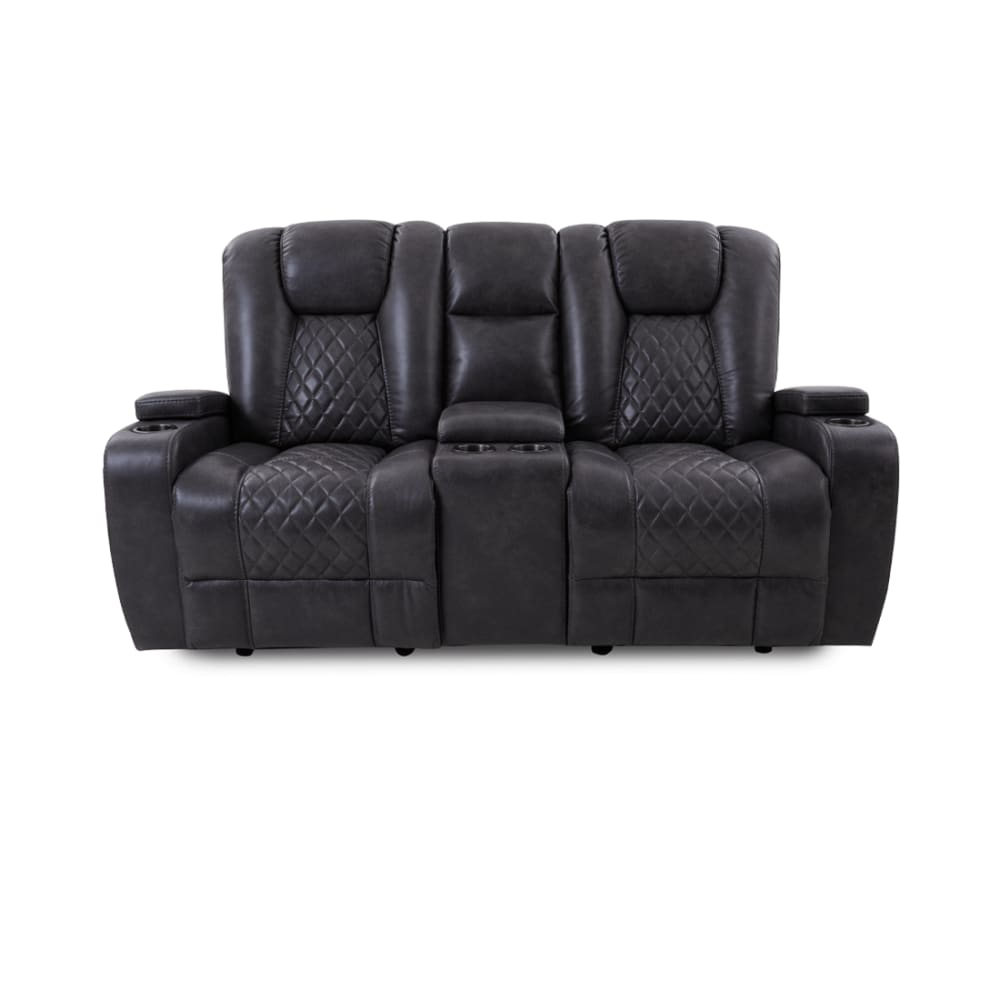 Onyx Collection Dual Glider Reclining Loveseat