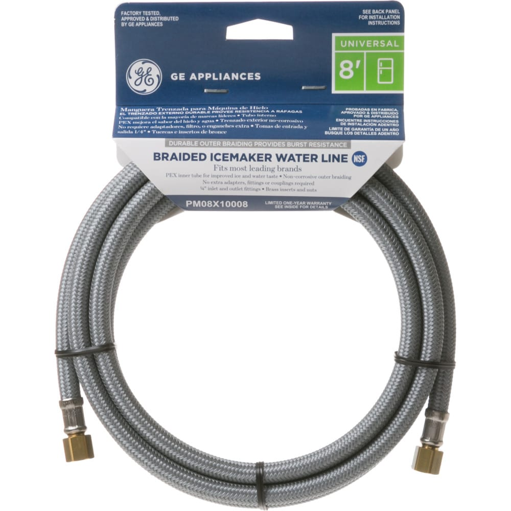 GE® 8' Universal Braided Water Line for Icemaker and/or Dispenser - PM08X10008
