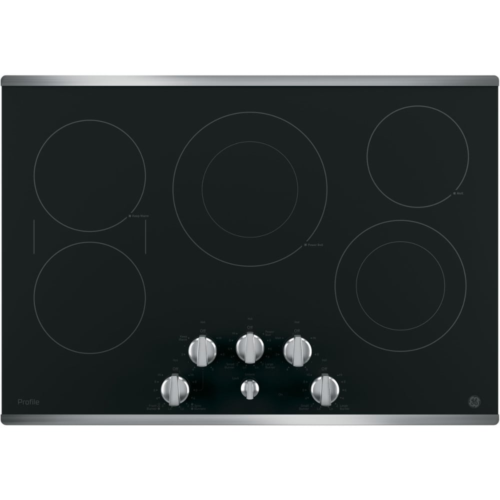 """GE Profile™ Series 30"""" Built-In Knob Control Electric Cooktop (PP7030SJSS)"""