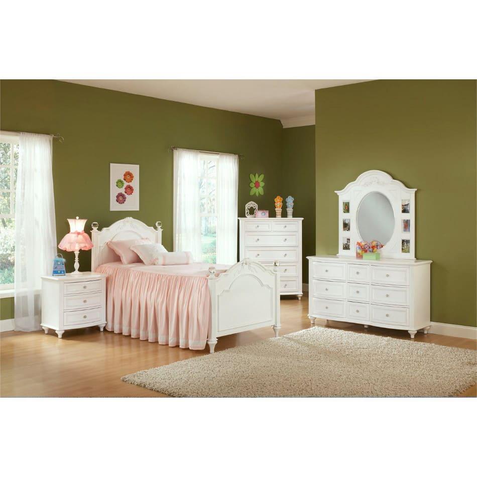Princess Bedroom - Bed, Dresser & Mirror - Twin - 2286