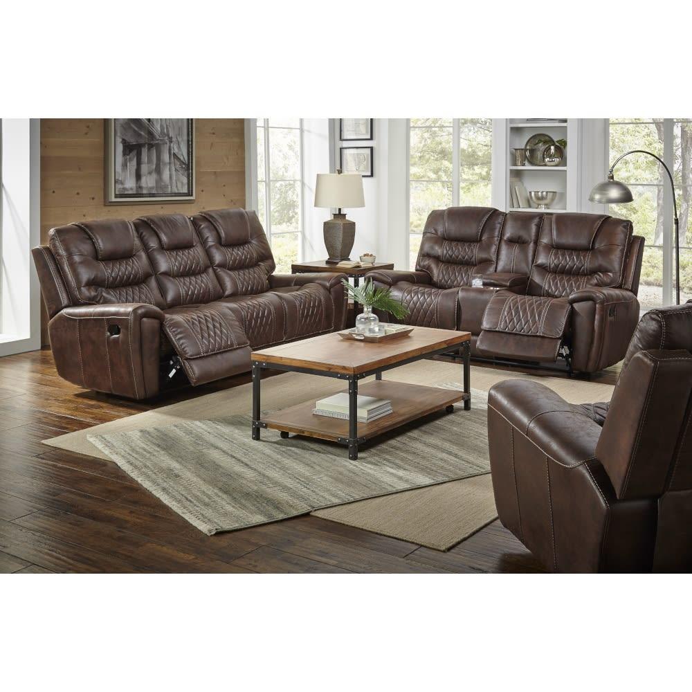 Spectrum Living Room - Reclining Sofa & Reclining Console Loveseat - SPECTRUMLR