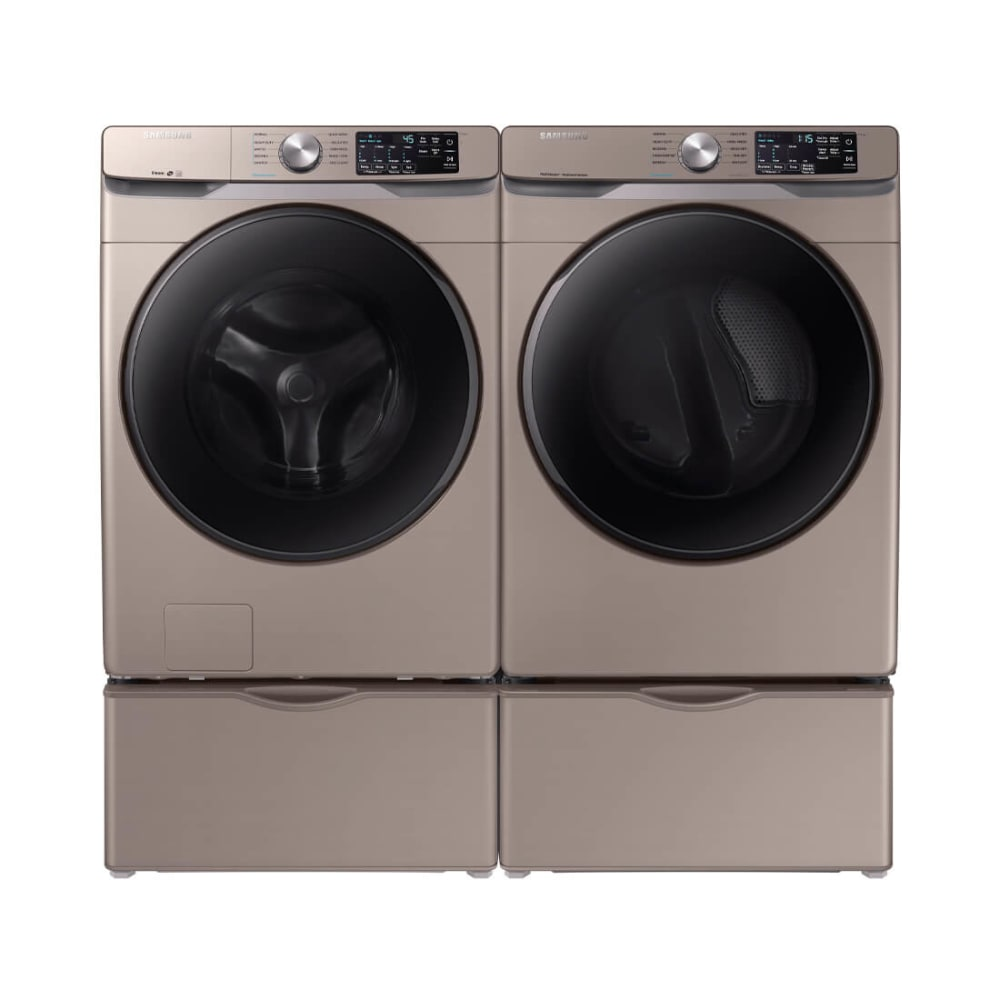 Samsung 4 Pc Front Load Washer & Dryer Pedestal Bundle