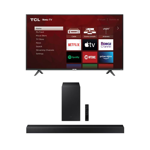 """TCL 65"""" Class 4 Series 4K UHD Smart Roku TV Bundle - 65S435BUNDLE"""