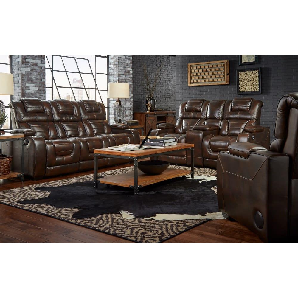 Titanium Living Room - Reclining Sofa & Loveseat - TITANIUM2PCLR