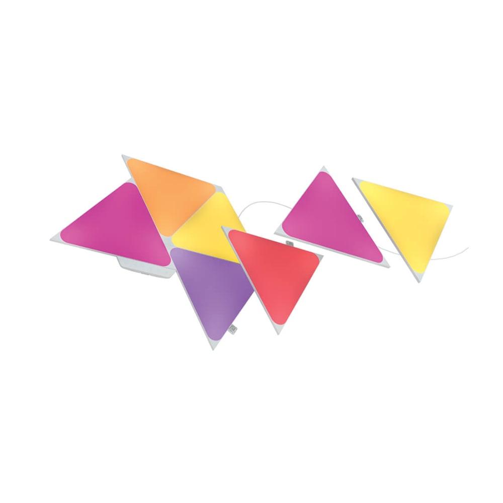 Nanoleaf Shapes - Triangles- 7 Pc Smarter Kit - Modular Lighting