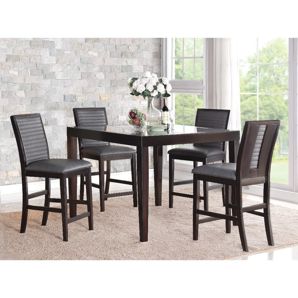 Vegas Dining - Counter Table & 4 Chairs - VEGASCTRDR